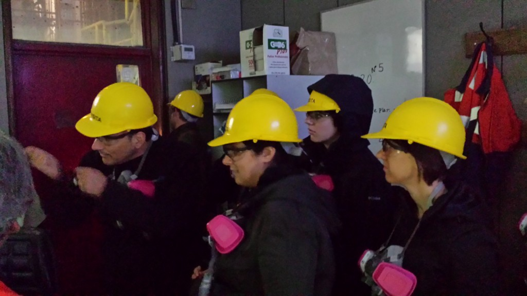 Students tour Chagres, a copper-smelting plant. Source: John Katers.