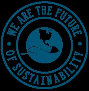 "UW Sustainable Management logo of its sustainability scholarships for students, titled ""We are the future of sustainability"""